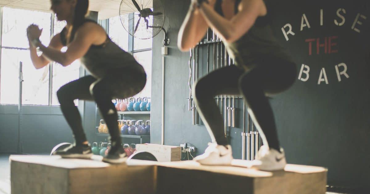 box jumps gym