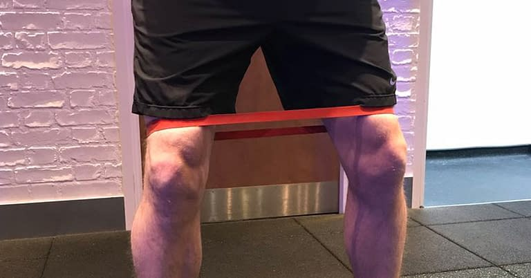 band exercise knee