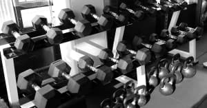 gym weight rack