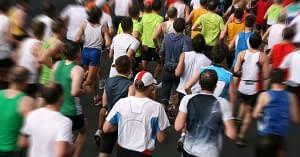 marathon runners road